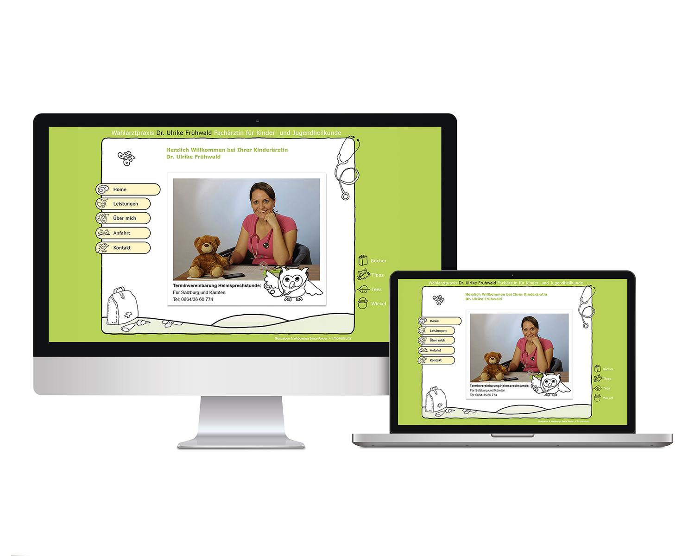 Homepage, Webseite Kinderärztin Dr. Frühwald Ulrike