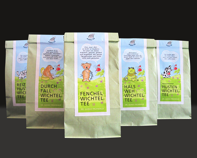 Etiketten Tee Kinderärztin Dr. Frühwald Ulrike