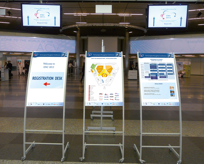 Infoständer Tagung European Navigation Conference