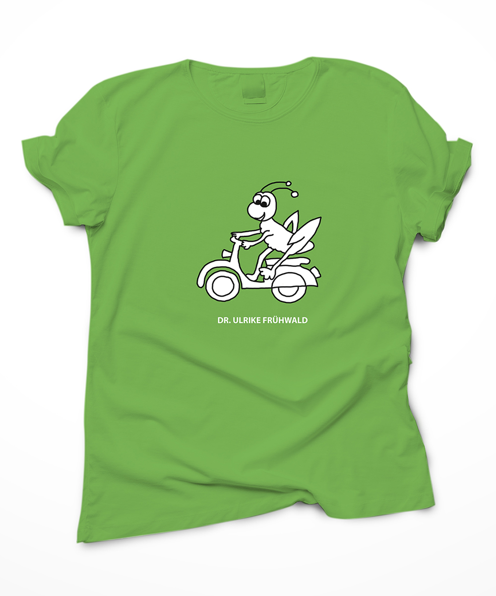 Grünes T-Shirt Kinderärztin Dr. Frühwald Ulrike