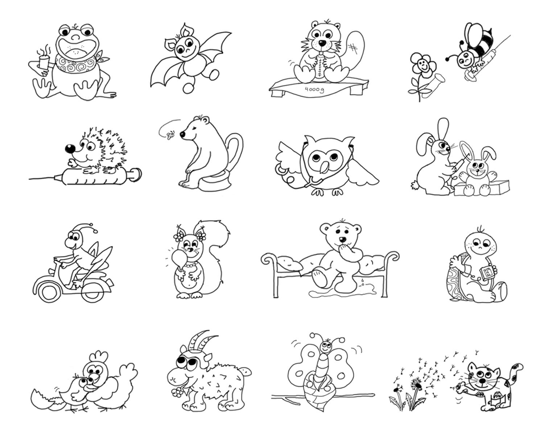 Illustrationenen Kinderärztin Dr. Frühwald Ulrike